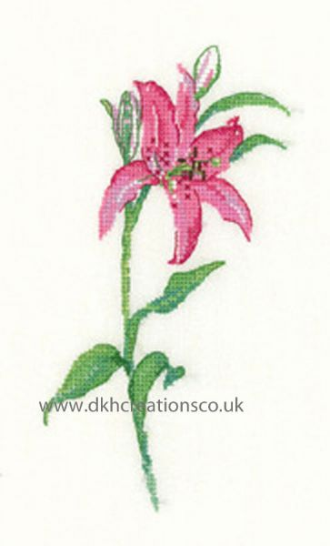 Pink Lily Cross Stitch Kit